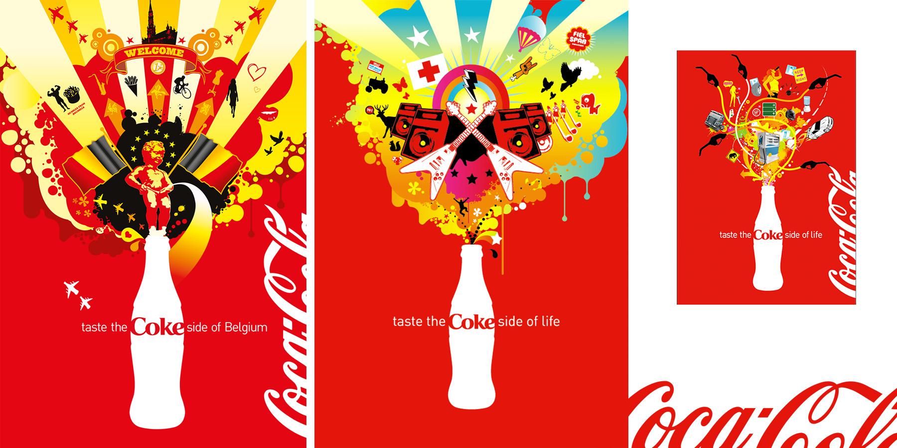 Coca-Cola Festival & Belgium promo designs