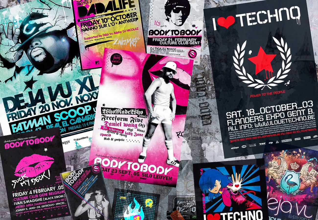 KULT nightlife poster designs + campaigns, I LOVE TECHNO ea...